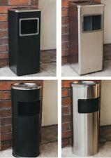 More details for metal litter/rubbish bin & cigarette/smoking ash tray outdoor restaurant/pub new