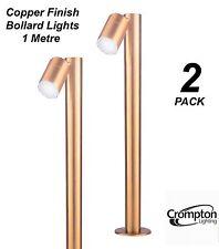 2 x Copper Finish 1M DIY Garden Adjustable Bollard Light 12V MR16 Low Voltage