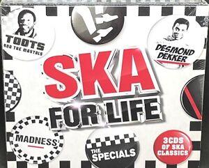 SKA FOR LIFE - VARIOUS ARTISTS, TRIPLE CD ALBUM, (2019) **NEW / SEALED**