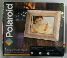 Polaroid 8 inch Digital Frame - Distressed Gray
