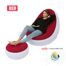 US Inflatable Bean Bag Lazy Lounge Chair Ottoman Sofa Footrest Home Bedroom Xmas
