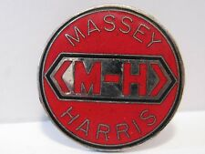 Massey Harris MH Logo Lapel Hat Pin Pinback Tie Tac Farm Tractor Collectible
