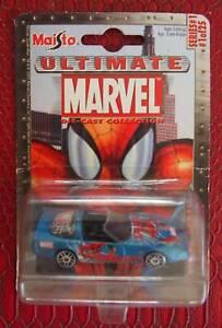 Maisto Ultimate Marvel Die Cast Spiderman Corvette
