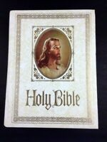 Vintage 1971 Royal Regency Holy Bible KJV Red Letter Family Bible Preowned