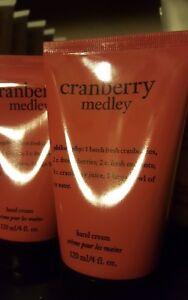 NEW SEALED PHILOSOPHY CRANBERRY MEDLEY HAND CREAM CREME LOTION 4 OZ