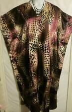 Caftan Lounger Dress Brown Print Plus Size 2X to 5X Free Shipping to US