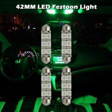 4x New 12V Car 12 5050 Led Festoon Dome Light Map lamp Bulbs Green 42Mm 578 562(Fits: Neon)