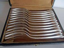 12 French Art Deco Christofle Dessert Forks Rare Printania Model– Tableware