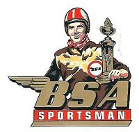 BSA Sportsman Decal Transfer Classic Motorcycle