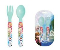 SET PAPPA Posate in Plastica - Cucchiaino e Forchetta DISNEY FROZEN Elsa e Anna