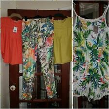 girls age NEXT 12 years mix and match bundle tropical playsuit tops joggers
