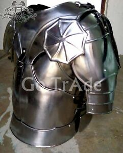 Medieval Roman~Gothic chest Armor Jacket~breastplate with Gothic style Shoulder