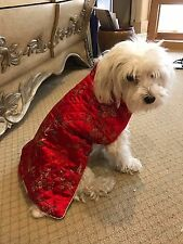 Oriental Chinese Kimono Quilted Dog Coat Costume M
