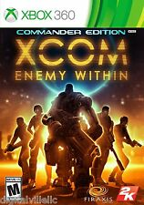XCOM Enemy Within Commander Edition Xbox 360 Brand New Sealed
