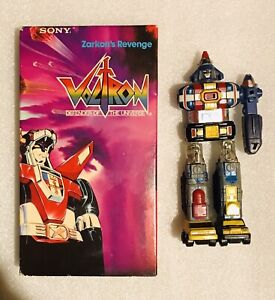 """Vintage 1984 Voltron Bandai VHS Tape And Dairugger GB-75 6"""" Diecast Action Toy"""