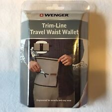 TRAVEL WAIST WALLET Trim-Line Adjustable Money Safety GRAY WENGER NEW