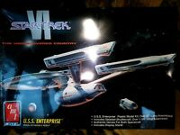 AMT / ERTL U.S.S. ENTERPRISE PLASTIC MODEL KIT, STAR TREK VI, 1991, SEALED NIB