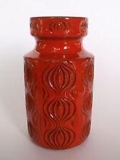 Scheurich 285-15 AMSTERDAM Keramik Vase rot Relief - Mid Century sliced onion