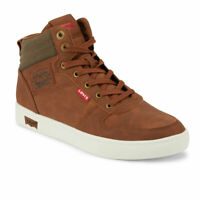 Levi's Mens Miles Liam Wx Synthetic Leather Casual Lace-up High Top Sneaker Shoe
