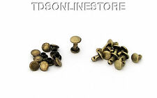 6mm Diameter Antique Brass Plated Compression Rivets Package of 12