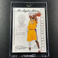 KOBE BRYANT 2013 PANINI SIGNATURES #5 CARD LAKERS NBA BLACK MAMBA #'D /25