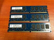 Nanya 6GB ( 3x 2GB ) PC2-6400U DDR2 Desktop RAM