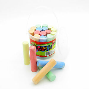 Jumbo Chalk Craft Kids Jumbo Art Chalk With Bucket Blackboard Play Sidewalk