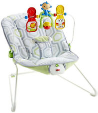 Baby's Bouncer with romovable Toy Bar Confortable Seat Calming Vibrations Chair