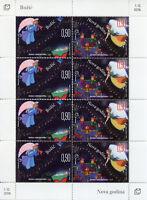 Bosnia & Herzegovina 2018 MNH Christmas & New Year Nativity Angels 8v M/S Stamps