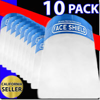 FACE SHIELD PROTECTION 10 PACK SPLASH PROTECTION INDUSTRY SAFETY ANTI FOG SHIELD