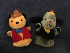 Sooty & Sweep Puppets - 2 Musical Indian Titan Toys Cadells Vintage