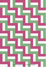 Crochet Patterns - RAIL FENCE Christmas afghan pattern