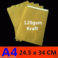 100x A4 Size 245x340mm Brown Kraft ReCycled Envelopes Peel N Seal 120gsm Mailer