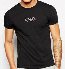 Black Emporio Armani E.A chest Mens Slim fit T-shirt - M, L, XL
