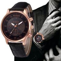 Retro Design Faux Leather Band Watch Mens Analog Alloy Quartz Wrist Watches 2018
