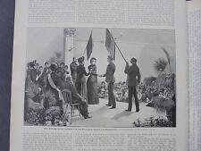 1893 Stich 66 / Heilsarmee Trauung ...Textbeilage als Kopie