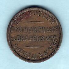 Australia Token.  Andrew - 1862 1d. Melbourne Vic.. Kangaroo & Emu.. VF/aVF