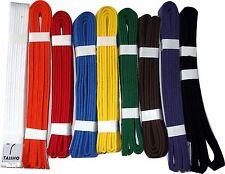 COLOURED BELTS (Plain)for Martial Arts, Judo, Karate, Kickboxing, MMA, Taekwondo