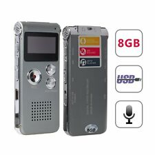 Elephant XuPortable Grey 8GB Digital Audio Voice Recorder, MP3 Music Player, Dic