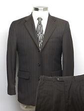 BACHRACH Suit 38S Brown Chalkstriped - Pants W32 x L29 $498