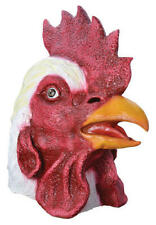Rooster Overhead Rubber Mask Fancy Dress Costume Outfit Prop Chickens Head