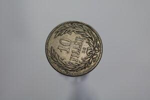 HUNGARY 10 FILLER 1893 A91 #P4079