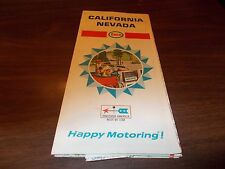 1968 Enco California/Nevada Vintage Road Map