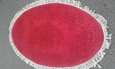 Brand NEW 100% Wool Chinese Rug Carpet  Oval Large 5'x3',  Red Rose Floral