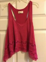 Hollister Women's Pink Top Size S