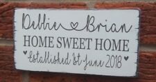 New Home Personalised Names Plaque Wooden Hanging Sign House Warming Gift