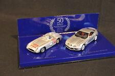 """Minichamps Mercedes-Benz SLR Set 1:43 Silver """"50 Jahre Mercedes-Magazine"""" (JS)"""