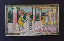 Chromo tablette CHOCOLAT LOMBART Dessin Jeu des osselets chez les romains