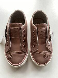 NEXT INFANT GIRLS Pink Trainers SIZE UK 5