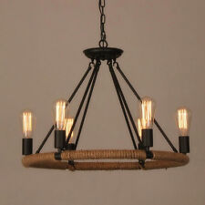 Industrial Farmhouse Iron Chandelier Light Edison Cafe Bar Restaurant Rustic 6